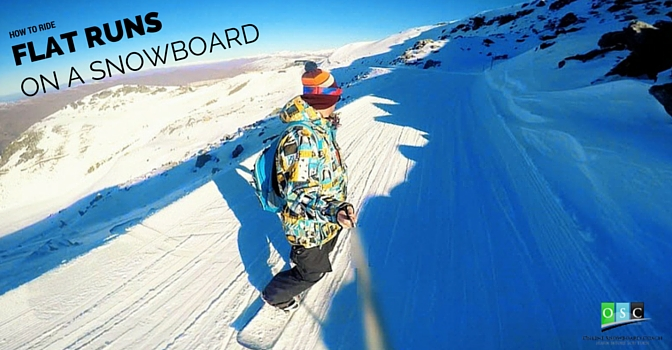 How to Ride Flat Runs on a Snowboard