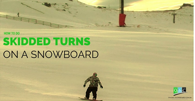 Snowboard S Turns- Learn to Link C-turns