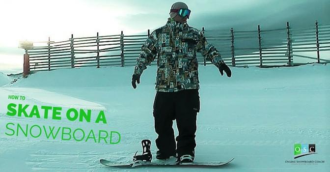 Skating on a Snowboard
