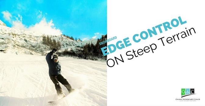 Falling on your Snowboard on Steep Terrain