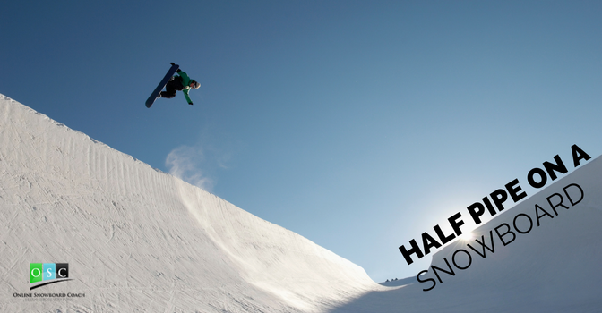 Half Pipe On A Snowboard
