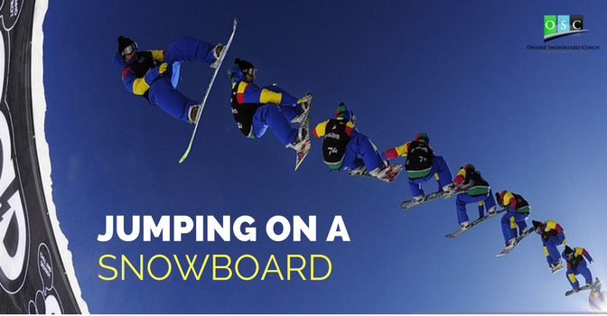 Jumping on A Snowboard