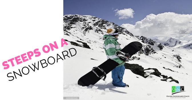 Snowboarding Down Steep Terrain