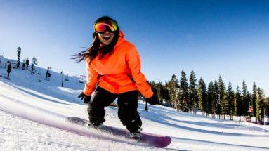 Basic stance on a snowboard