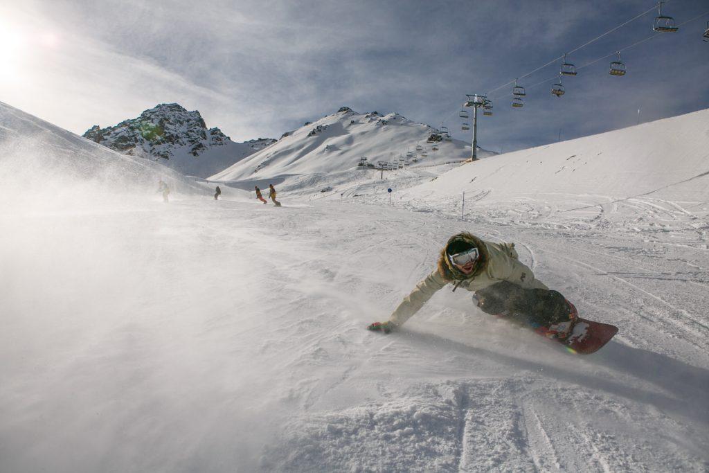 Toe edge snowboard turns tutorial