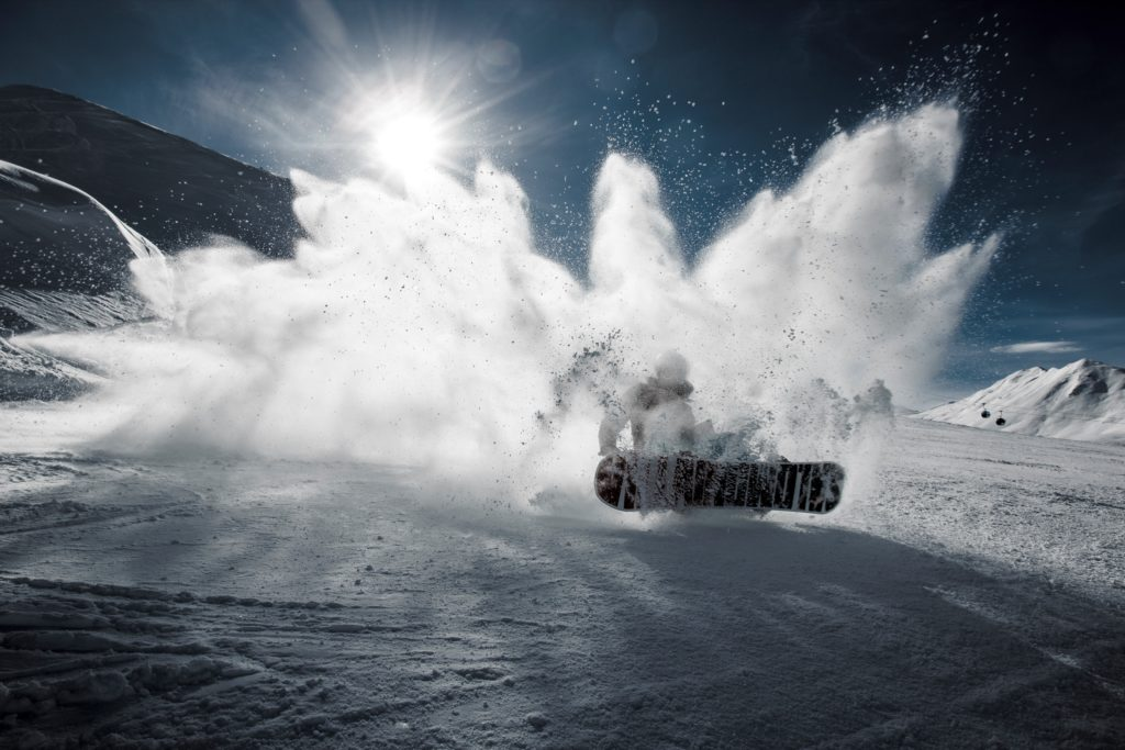 speed control on a snowboard