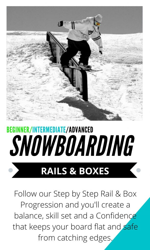 Rails and Boxes snowboarding tutorials