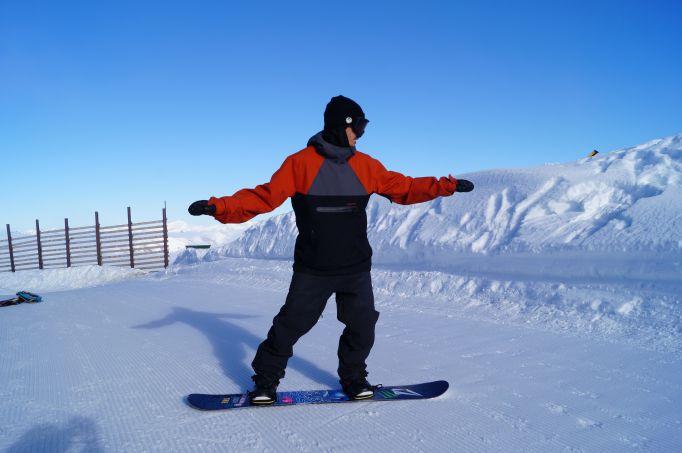 weight forward snowboarding